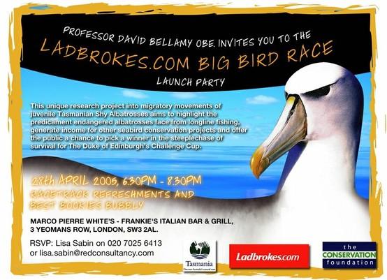 The conservation foundation & Ladbrokes' Big Bird Race